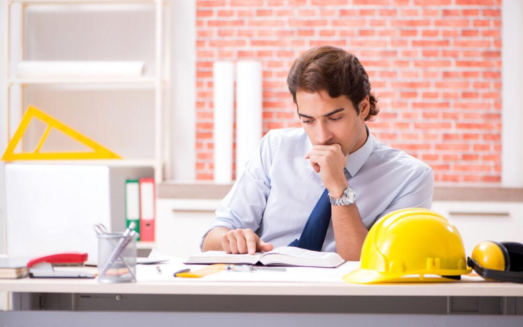 Contractor Reviewing Employee Handbook